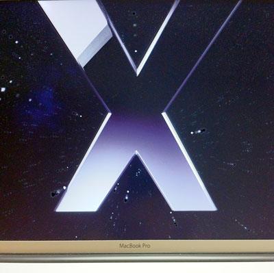 Mac OS X snowleopar、ウェルカム画面