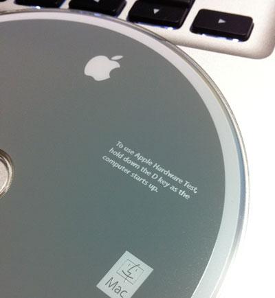 Apple Hardware Testの入ったインストールディスクのアップ
