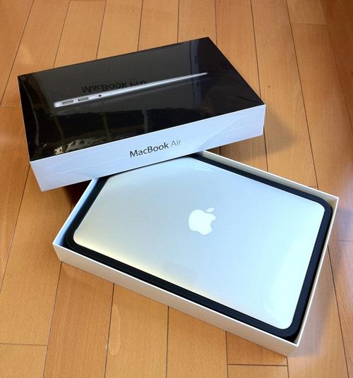 MacBook Air(Mid 2011)外箱と本体