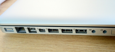 MacBook Pro(Early 2011)17inchのポート