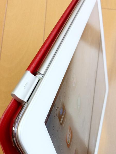 パワーサポート Airジャケットセット for iPad 2、スマートカバーにヒンジ部分のカバー詳細写真2