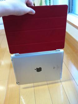 パワーサポート Airジャケットセット for iPad 2をつけてスマートカバーだけを持ってプランプランさせてみる(笑)