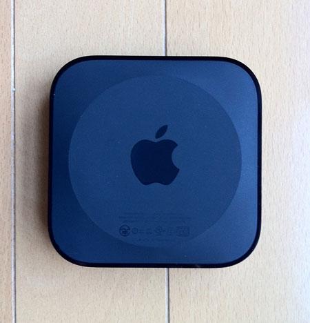 Apple TVのリンゴマークは底の面に