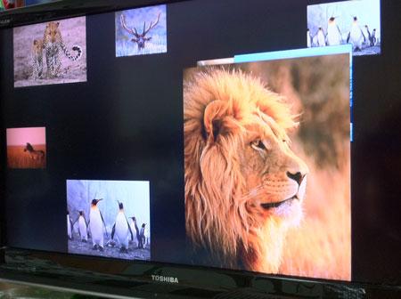 Apple TVをつないだテレビの画面。