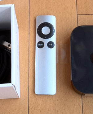 Apple TVのリモコン(Apple Remote)