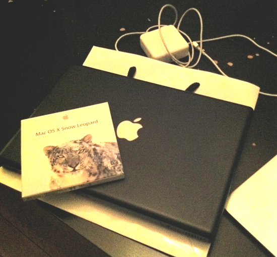 MacBook黒(late 2006)とSnow LeopardのOS