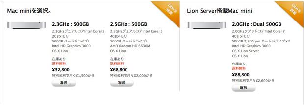Mac miniとMac mini Server
