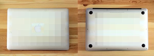 ねこ先生の汚いMacBook Air 13