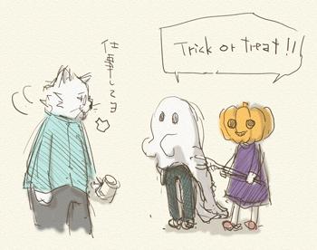 ハロウィンをねこ先生仕掛けてみたら
