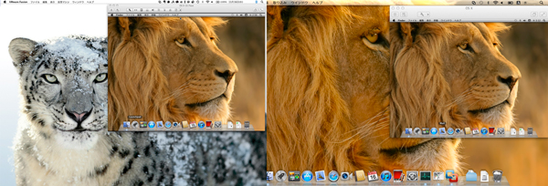 VMware Fusion 4でLion in SnowLeopardとLion in Lion