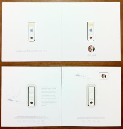 Apple純正Mac OS XのUSBメモリのパッケージ Snow LeopardとLion