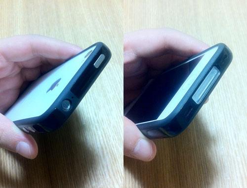 iPhoneの純正のバンパーを使ってもキャップはきれいにはまる。