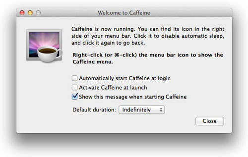 Caffeineの環境設定。