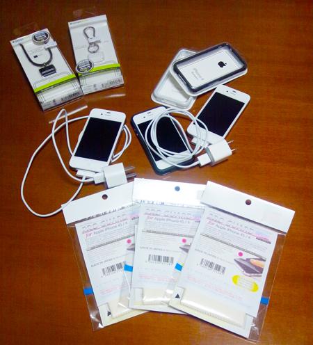 iPhone 4S、ホワイトモデルばかり3台も(笑)
