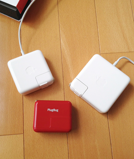 PlugBug (Twelve South TWS-OT-000007)とMacBook Pro Airの電源アダプタ