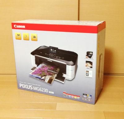 Canon PIXUS MG6230の箱。大きくて重いよ。