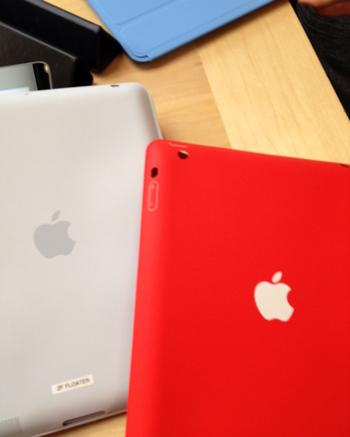 Apple iPadのスマートケースの背面。