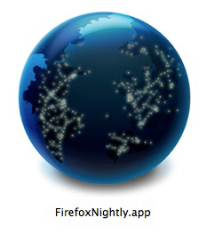 Firefox、Nightlyアイコン