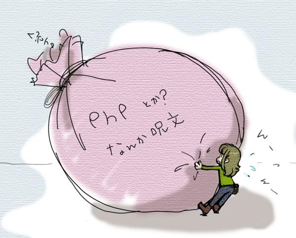 phpと格闘するユコびん