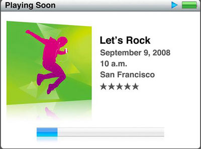 Apple、2008年9月の招待状