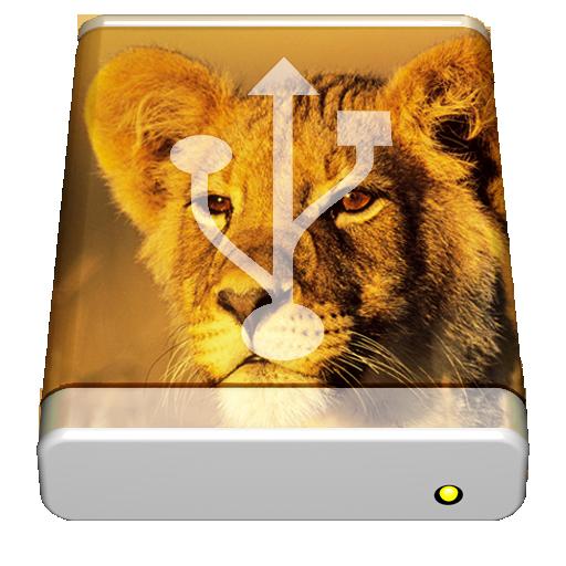 LionリカバリーUSBメモリ用アイコン