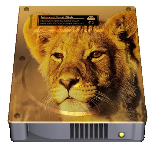 LionリカバリーHD領域のHDDアイコン
